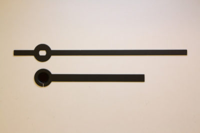 Visere sort rett 56mm