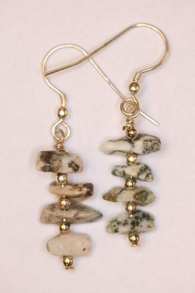 Agat tre øreheng barokk med sølvkrok