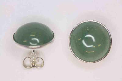 Aventurin grønn sølv ørestikker med 12mm stein