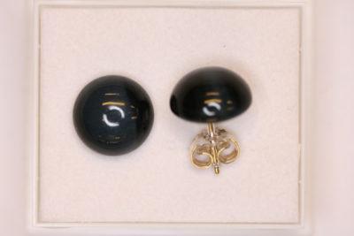 Falkøye sølv ørestikker med 11mm stein