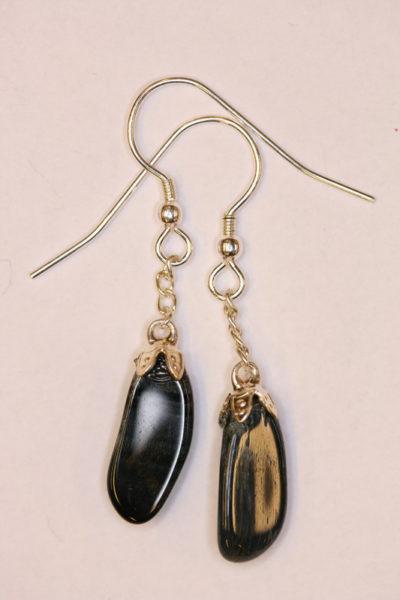 Falkøye øreheng tulipan med sølvkrok 2 steiner