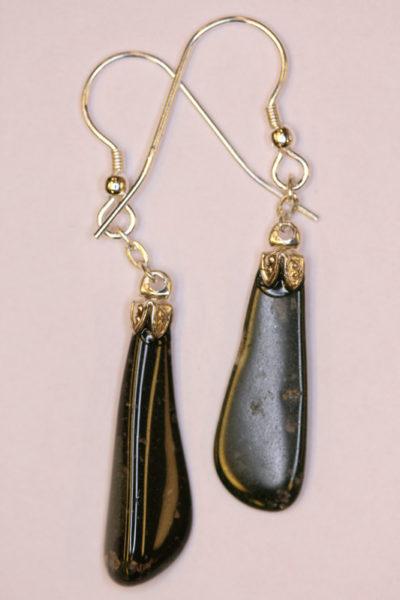 Groruditt øreheng tulipan med sølvkrok 2 steiner