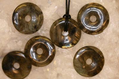 Labradoritt donuts ca 30mm