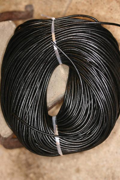 Lærsnor sort 3mm x 1m