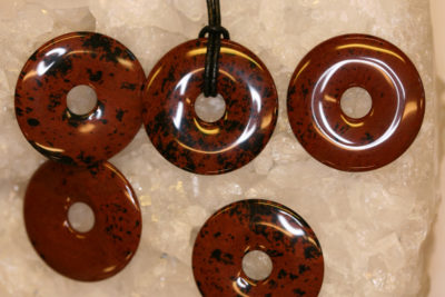 Obsidian mahogny donuts 35mm dia