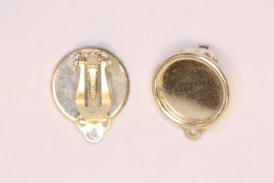 Øreklips rund 15mm  Sølv