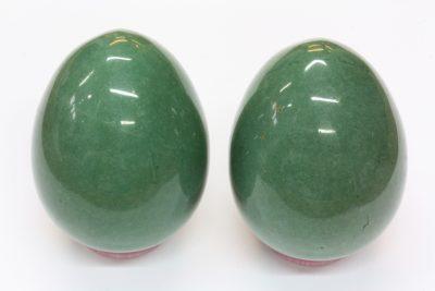 Aventurin grønn egg 40x52mm