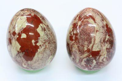 Jaspis breksje egg 40x52mm
