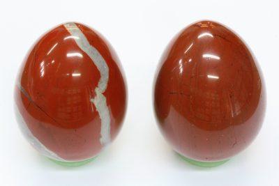Jaspis brun egg 40x52mm