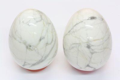 Magnesitt hvit egg 40x52mm