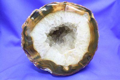 Agat Geode B naturlig farge, 3.0kg 15x17cm fra Brasil