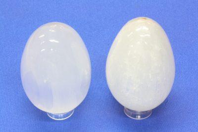 Selenitt hvit egg ca 40x55mm