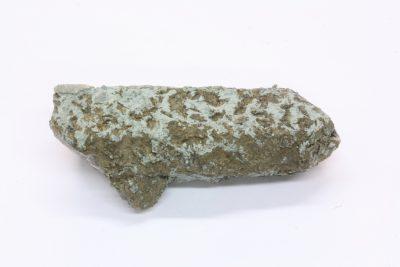 Kloritt på kvartskrystall B 45g 6cm lang fra Landsverk på Evje Norge