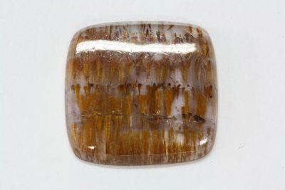 Cacoxenitt cabochon 9.61ct 18.0×18.4 og 3mm tykk fra Brasil