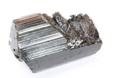 Schorl » sort turmalin» krystall 550g 7x11cm fra Minas Gerais i Brasil, skader på krystallen.